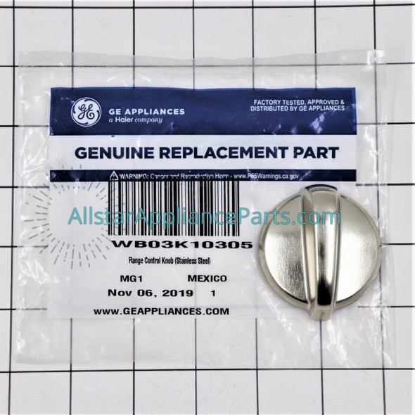 Part Number WB03K10305 replaces  WB03K10221,  WB03K10294