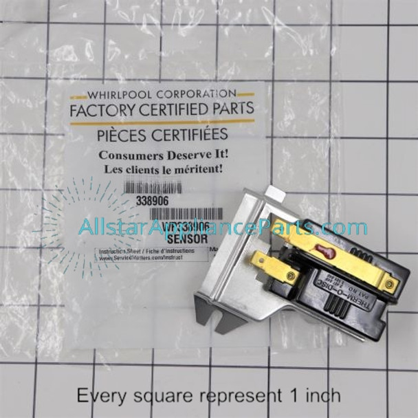 Part Number WP338906 replaces 14205529, 14210083, 14218928, 338906, 35001096, 63-5013, DC32-00008A, R0611503, WP338906VP, Y303377, Y56231