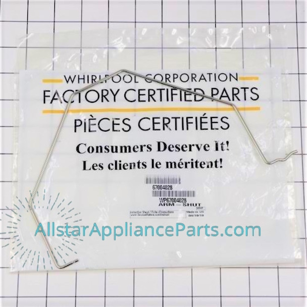 Part Number WP67004028 replaces 10884401, 12868001, 4344400, 67001257, 67004028, 8170939, 8171289, D7813101, W10187808