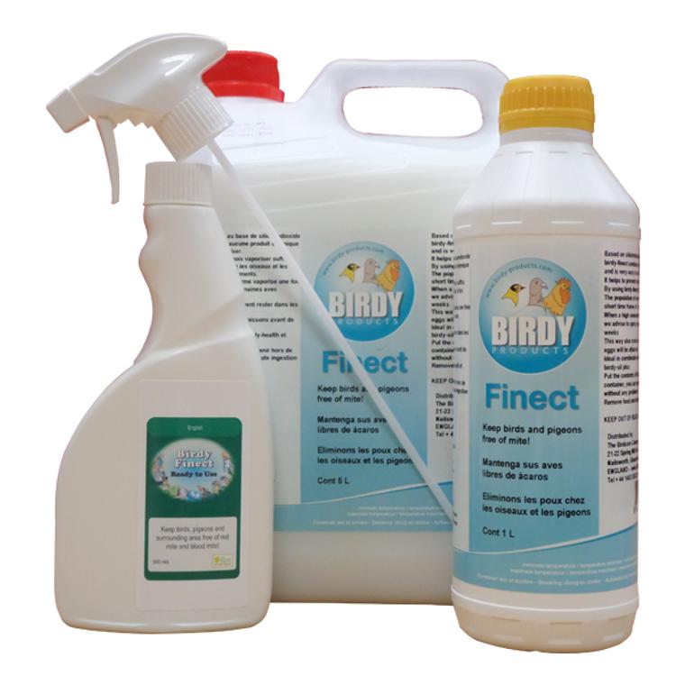Anti mite spray for birds.
