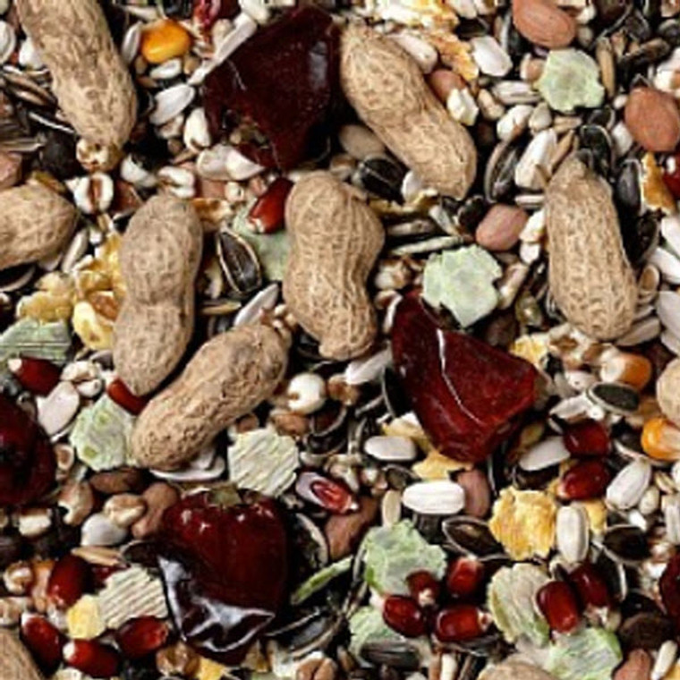 A premium bird seed mixture for parrots.