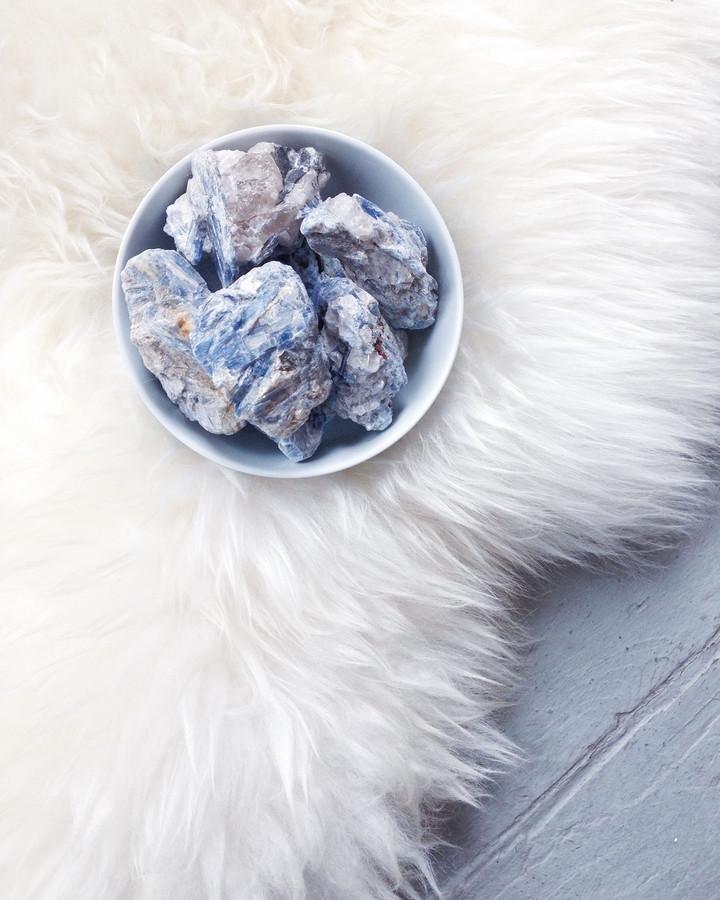 kyanite & quartz clusters