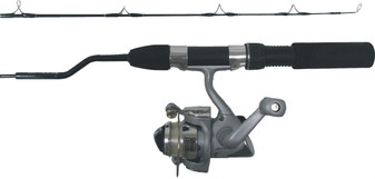 """SLICK ICE 28"""" MED ACTION COMBO W/ IS-502S 2BB REEL"""