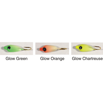 #10 LUNAR LURES 3/PK ASSORTED 1/EA GLOW ORANGE/GLOW WHITE/GLOW CHARTRUESE