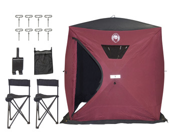 Nordic Legend 4 Thermal Man ICE SHELTER KIT W/2 Chairs, ICE Anchor Drill Adapter and MESH Storage…