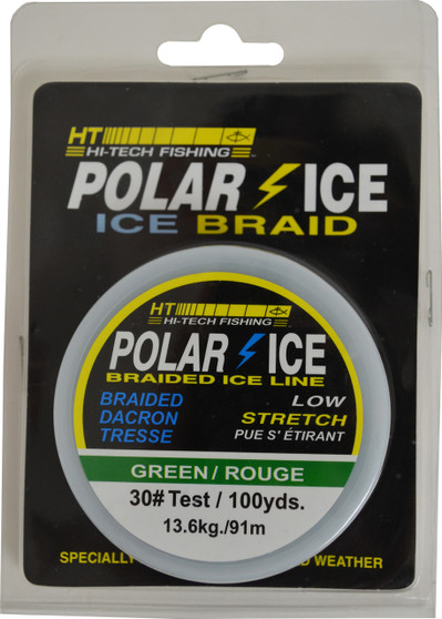 BRAIDED DACRON ICE LINE - GREEN 30#