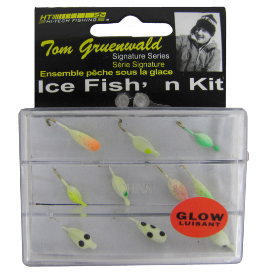 10 PIECE GLOW PANFISH ICE FISH'N KIT