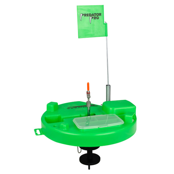 PREDATOR PRO THERMAL HOLE COVER TIP UP HI-VIZ GREEN W/500 FT SPOOL AND BUILT IN TACKLE BOX