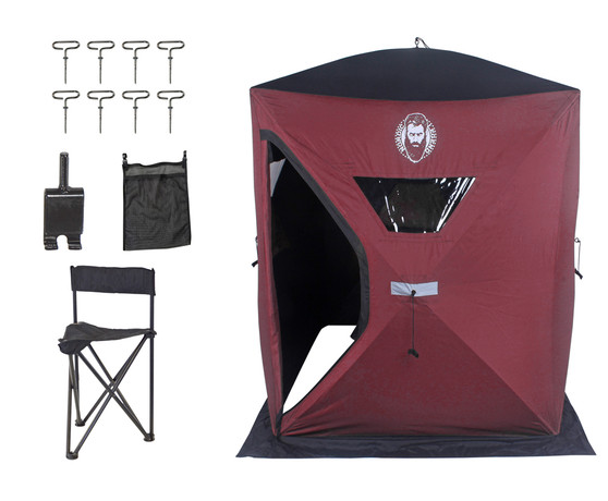 Nordic Legend 3 Man ICE SHELTER KIT W/1 Chair, ICE Anchor Drill Adapter and MESH Storage Pouch