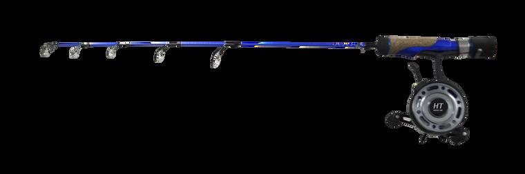 "DEEP BLUE DROP SPIN 27"" MEDIUM COMBO W/4B ALUM SPOOLED REEL"