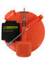 POLAR THERM EXTREME TIP-UP W/ 200 ' SPOOL, ORANGE - BUILT IN TACKLE BOX