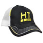 The cap every serious ice angler craves and will always wear with pride!  Black with yellow HT logo emblazoned on front panel in raised embroidery.  Open mesh rear.  •	Comfortable Open Mesh Design •	Fully Adjustable Velcro Strap for Comfortable Fit •	Raised Embroidered Logo on Front Panel