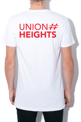 UNION HEIGHTS TSHIRT | RED on WHITE