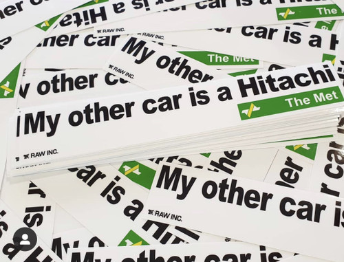 MY OTHER CAR IS A HITACHI | STICKER