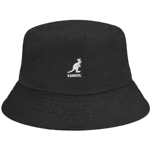 KANGOL | WASHED BUCKET HAT | BLACK