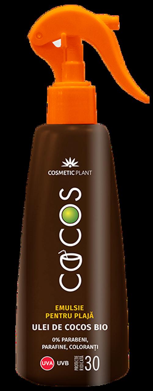 Cosmetic Plant Suncreen SPF 30 Emulsion With Bio Coconut Oil Cocos -- 6 8  fl  oz