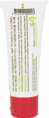 Jack N' Jill Natural Toothpaste Fluoride-Free with Certified Organic Strawberry - 1.76 oz.
