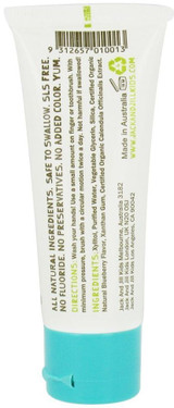 Jack N' Jill Natural Toothpaste Fluoride-Free with Certified Organic Blueberry - 1.76 oz.