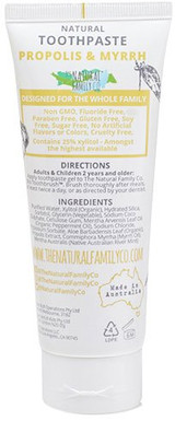 The Natural Family Co Propolis + Myrrh Natural Toothpaste -- 3.88.fl.oz.
