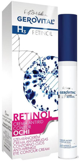 Gerovital H3 Retinol Anti Wrinkle Contour Eye Cream -- 0.51 fl.oz.