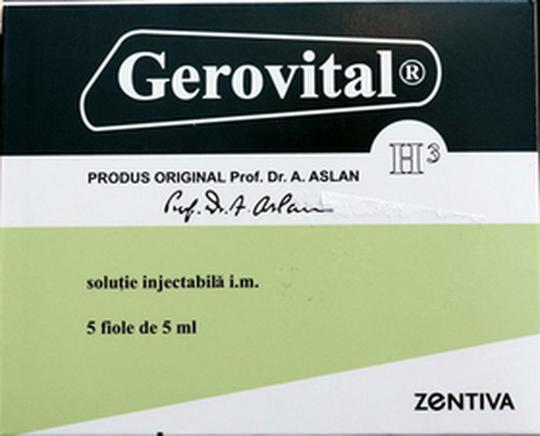 Gerovital GH3 Aslan Original Romanian Anti-Aging  5 vials box