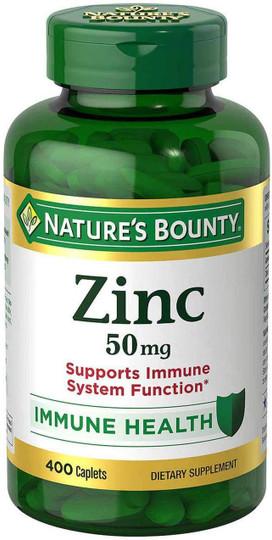 Nature's Bounty Zinc 50 mg 400 Caplets
