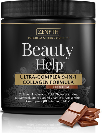 Zenyth Beauty Help Ultra-Complex 9-in-1 Collagen Chocolate Flavored Formula 300 G