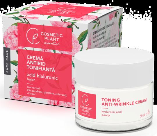 Cosmetic Plant Hyaluronic Acid Toning Anti-Wrinkle Cream & Peony Extract