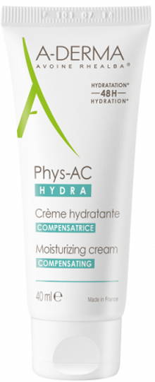 A-Derma Phys-Ac Hydra Compensating Cream Acne-Prone Skin