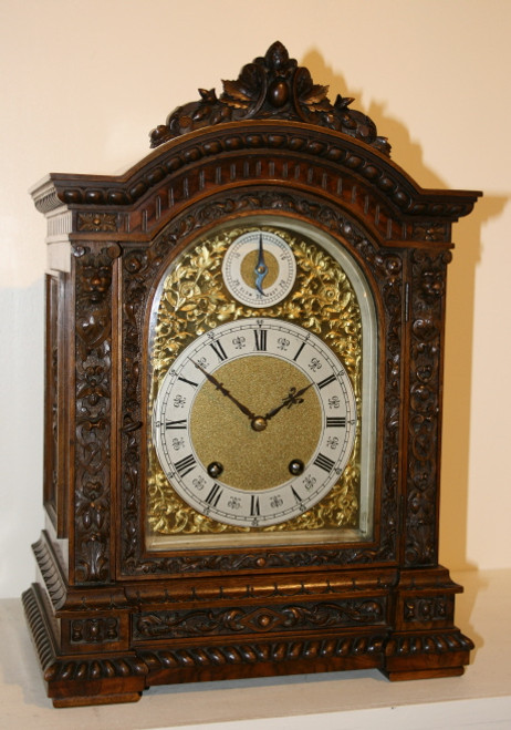 1904 Lenzkirch Walnut Bracket Clock