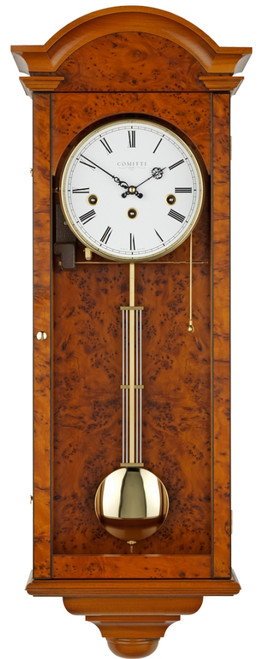 C3461CH - Comitti of London - The Oxford Yew Westminster Chime Wall Clock