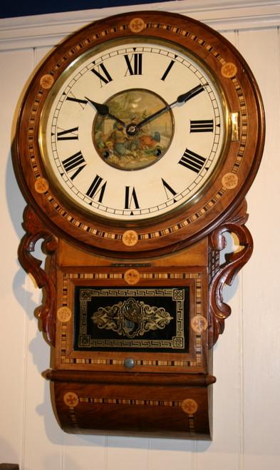 Circa 1900 American Wall Clock