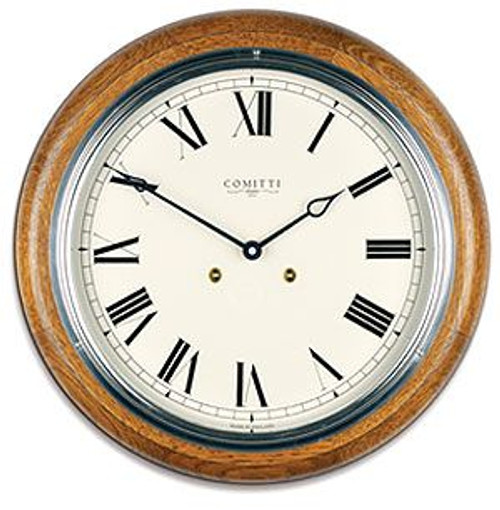 C3842S-CR - Comitti of London 'The Plymouth' Oak Wall Clock