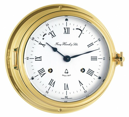 35065-000132 - Hermle Brass Ships Bell Clock