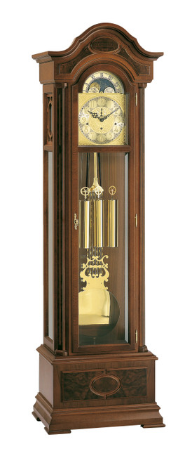 0107-23-01 - Kieninger Walnut Grandfather Clock