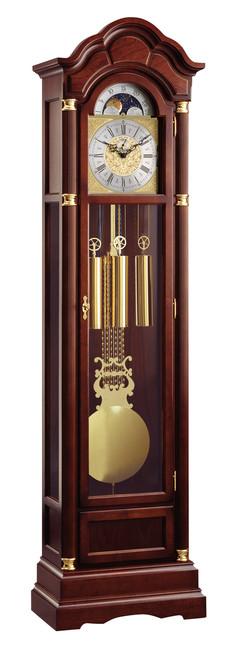 0128-23-01 - Kieninger Walnut Grandfather Clock Front