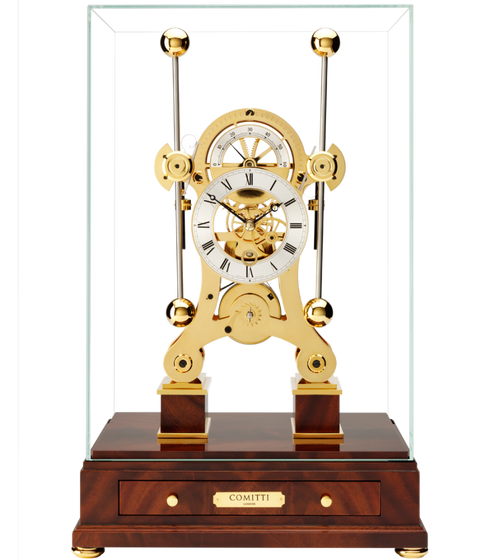 S5016G - Comitti Gold Plated Navigator Clock