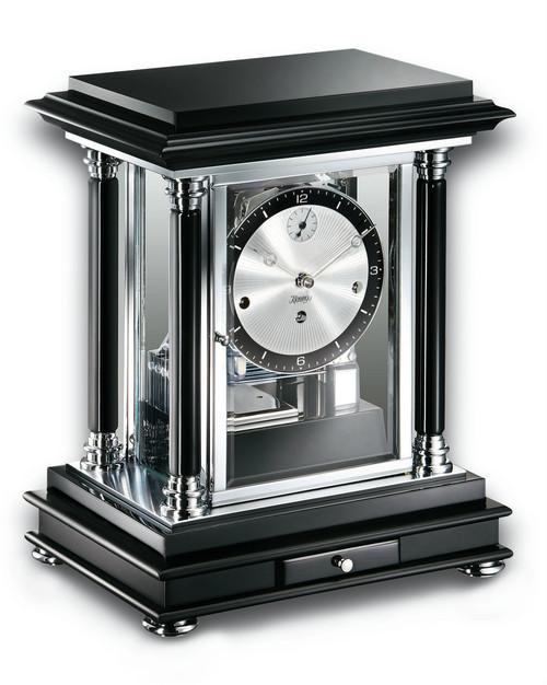 1246-96-02 - Kieninger Classic Black Mantel Clock Front View