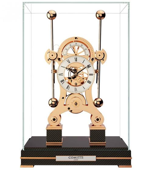 Limited Edition Comitti Rose Gold Navigator Clock