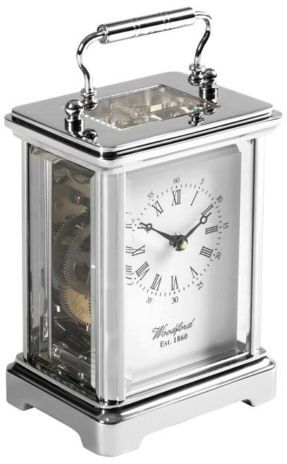 1415 - Woodford Obis 8 Day Carriage Clock - Chrome