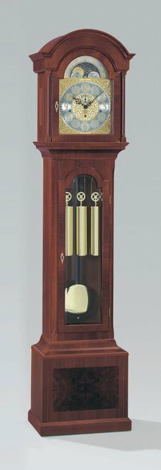 0105-31-02 - Kieninger Mahogany Grandfather Clock Front