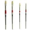 AS-102 Chungking White Hog Bristle Flats Brush Set