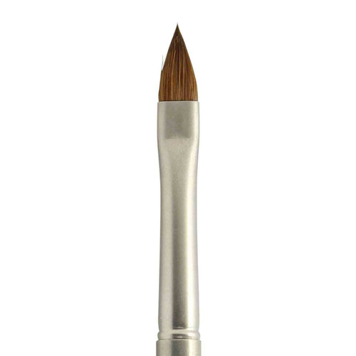 N3 PRO Gun Metal Kolinsky Sable Oval #6 Nail Brush