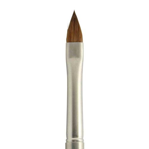N3 PRO Gun Metal Kolinsky Sable Oval #6 Nail Brush