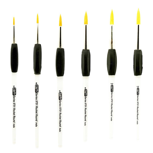AS-171 Rocket Gel Grip Rounds Brush Set