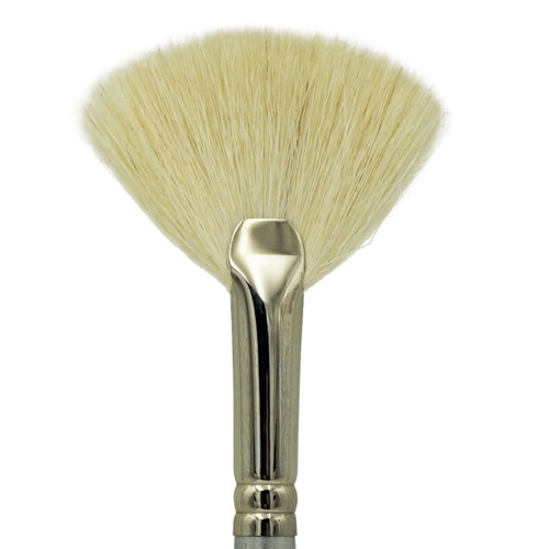 1835 Super Soft Fluffy White Hair Fan Brush