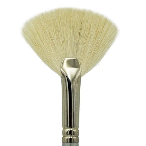 1835 Super Soft Fluffy White Hair Fan Brush