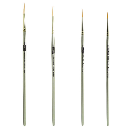 AS-26 Golden Taklon Synthetic Long Liner Brush Set