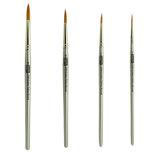 AS-28 Golden Taklon Synthetic Rounds Brush Set