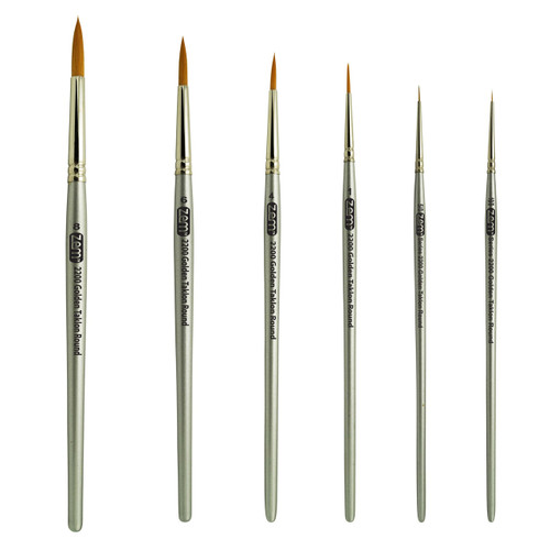 AS-29 Golden Taklon Synthetic Rounds Brush Set
